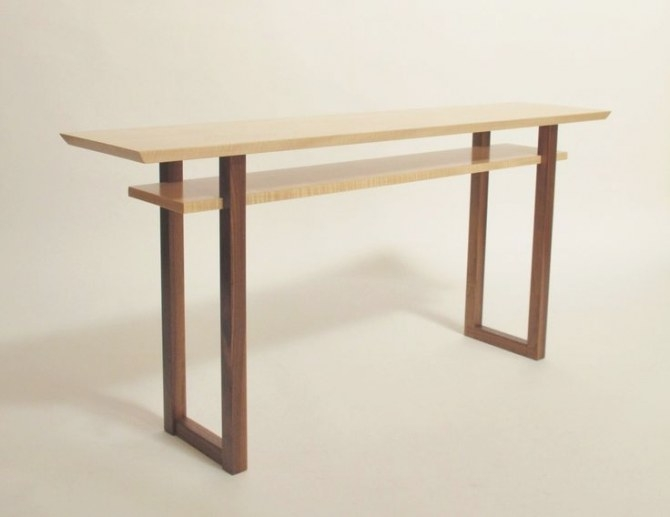 Contemporary Long Low Console Table: Narrow Sofa Table within Mid Century Modern Console Table