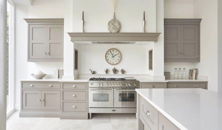 Contemporary Shaker Kitchen | Modern Shaker Kitchen | Tom intended for White And Gray Kitchens