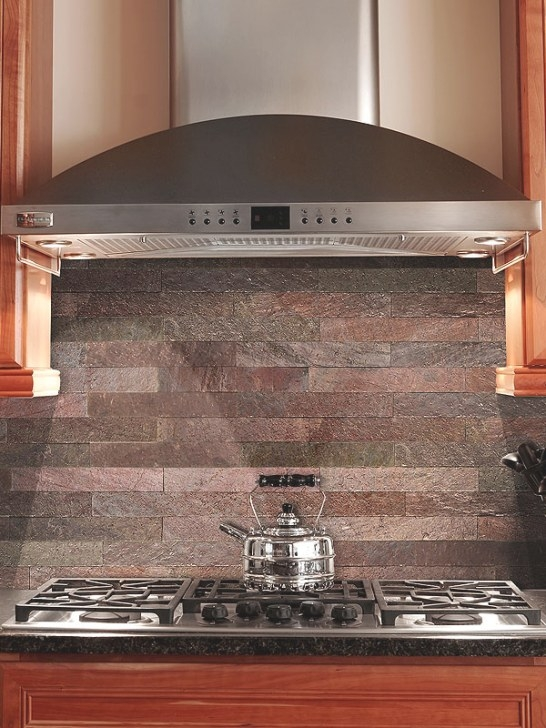 Copper Slate Subway Backsplash Tile regarding Do I Need Backsplash In Kitchen