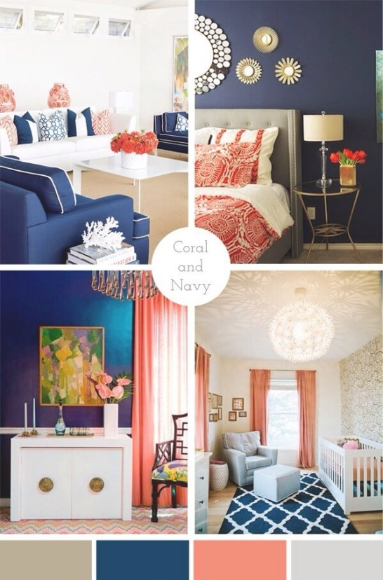 Coral And Navy | Blue Home Decor, Home Decor, Coral Bedroom intended for Navy And Coral Bedroom
