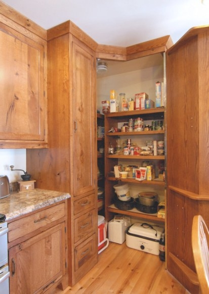 Corner Pantry - Traditional - Kitchen - Other - with Pantry Ideas For Kitchens