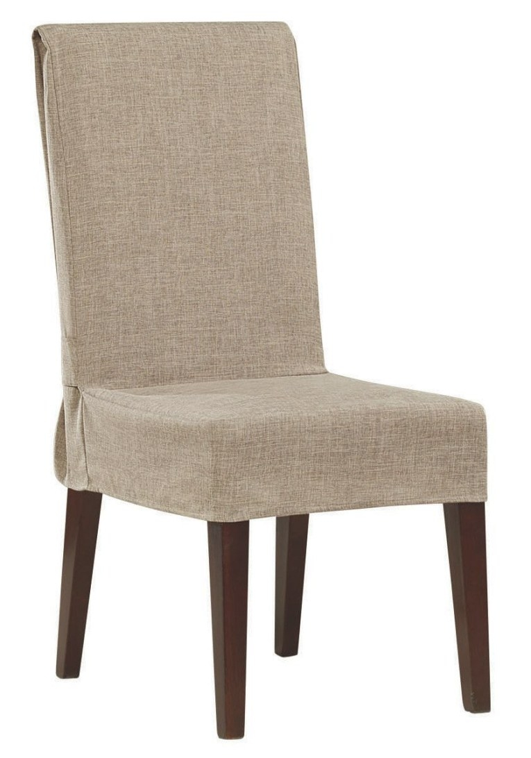Cotton Duck Box Cushion Dining Chair Slipcover | Sillas intended for Dining Room Chair Covers