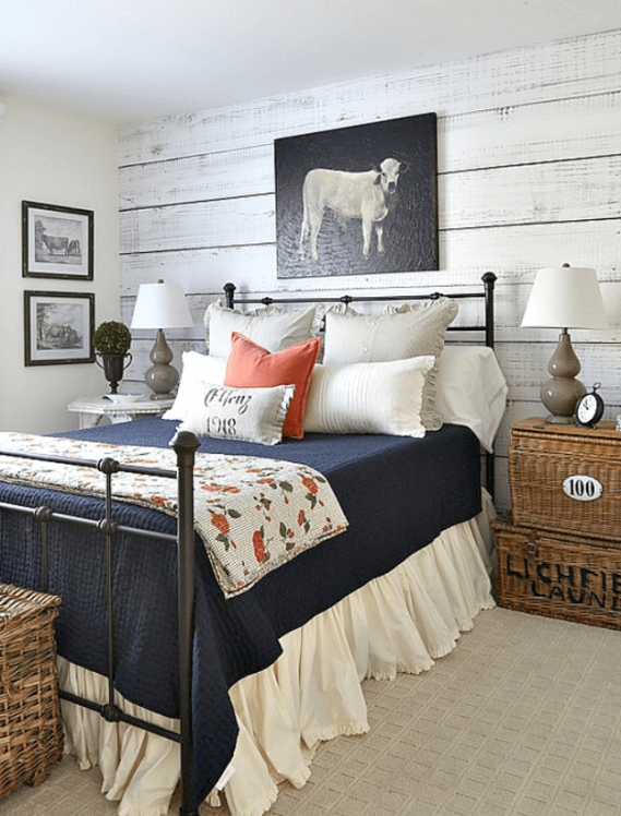 Country Charm - Concepts And Colorways for Blue And Orange Bedroom