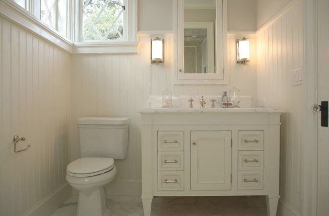 Cream Bathroom Vanity - Cottage - Bathroom - Giannetti Home with regard to Cream And White Bathroom