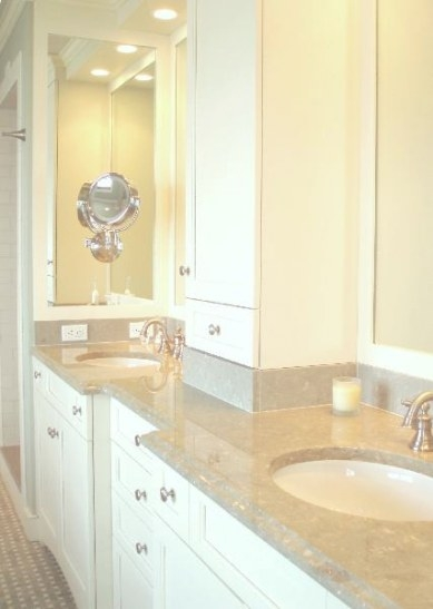 Cream Marble Counters - Transitional - Bathroom - Benjamin pertaining to Cream And White Bathroom