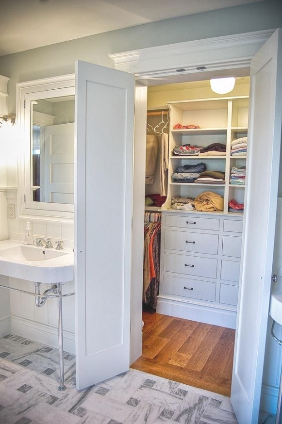 Create A New Look For Your Room With These Closet Door within Walk Through Closet To Bathroom
