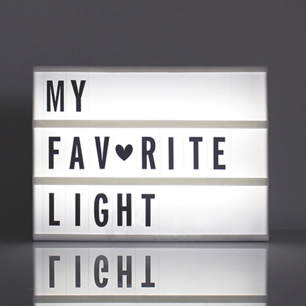 Creative Cinema Led Porch Light Up Sign Box Lightbox pertaining to Light Up My Home