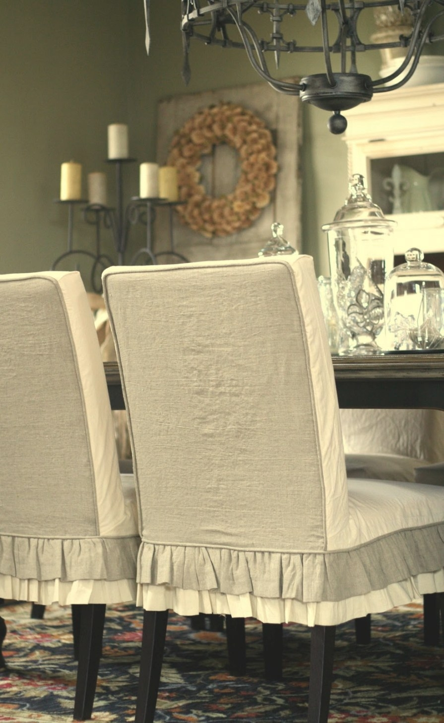 Custom Slipcoversshelley: Jenn'S Parson Chairs with regard to Dining Room Chair Covers