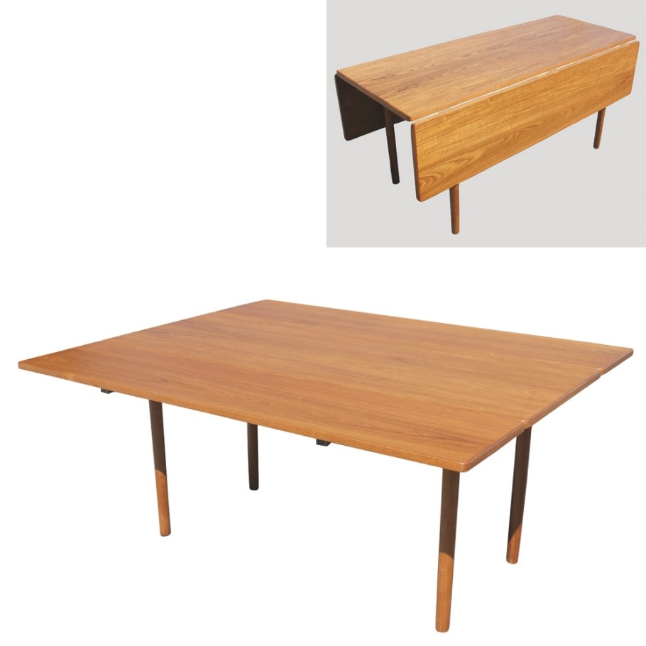 Danish Mid Century Modern Drop Leaf Dining Table | Ebay intended for Mid Century Dining Table