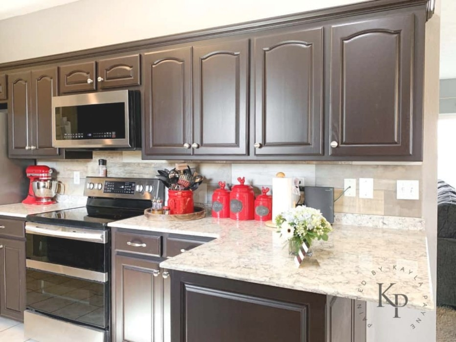 Dark Brown Cabinets, Espresso Cabinets, Espresso Painted inside Dark Brown Kitchen Cabinets