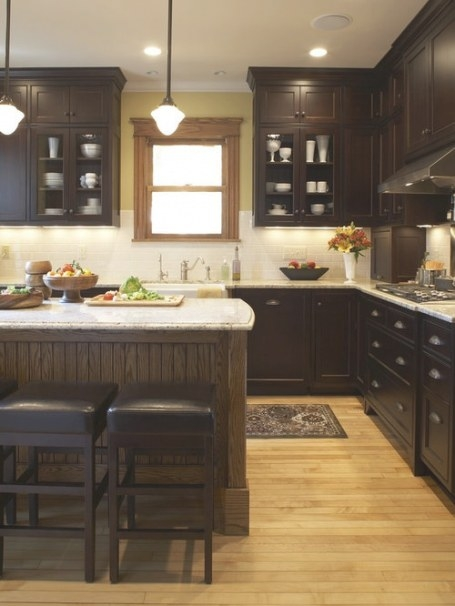 Dark Cabinets Light Floor Home Design Ideas, Pictures with regard to Dark Hardwood Floors Kitchen