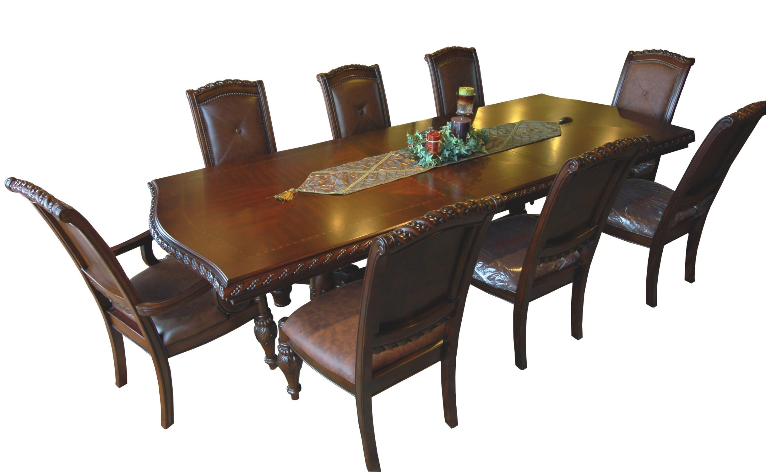 Dark Mahogany 9 Piece Dining Set with regard to 9 Piece Dining Set