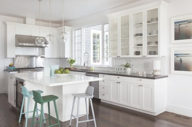 David Duncan Livingston Photography Photographs An L within L Shaped White Kitchen