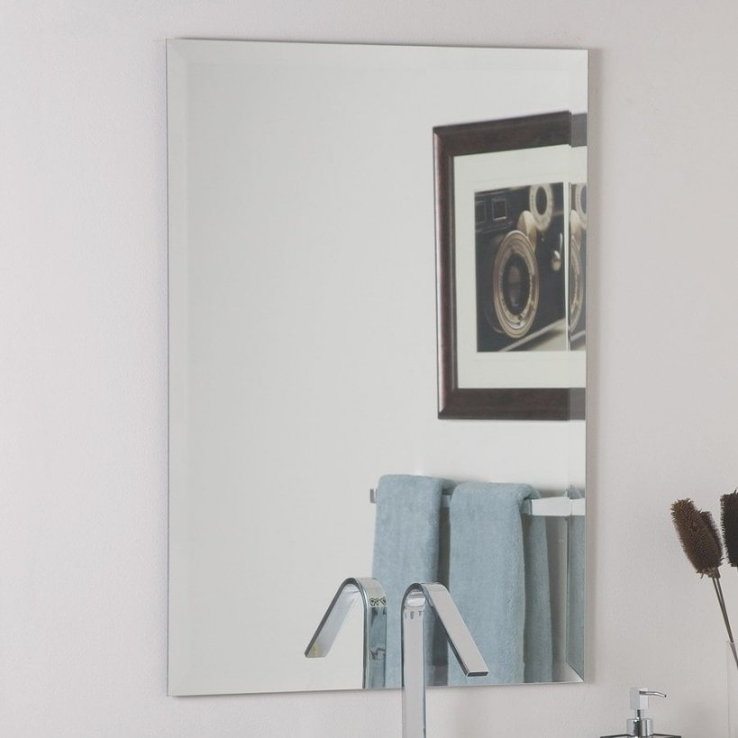 Decor Wonderland 23.6-In Rectangular Bathroom Mirror At in Rectangular Mirrors For Bathroom