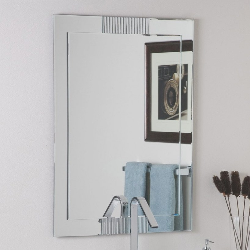 Decor Wonderland Francisca 23.6-In Rectangular Bathroom regarding Rectangular Mirrors For Bathroom