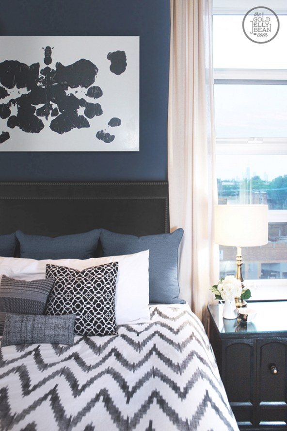 Decorating With Navy Bluekimberly Duran | The Oak with regard to Navy Blue And Gold Bedroom