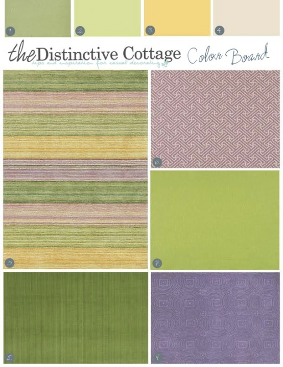 Decorating With Purple | Color Board: Amethyst & Green in What Colors Go With Purple