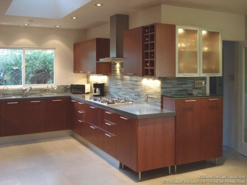 Designer Kitchens La - Pictures Of Kitchen Remodels in Cherry Wood Cabinet Kitchens