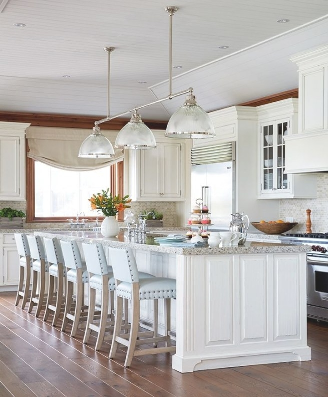 Designer Spotlight- Anne Hepfer - The Enchanted Home within Turquoise Bar Stools Kitchen