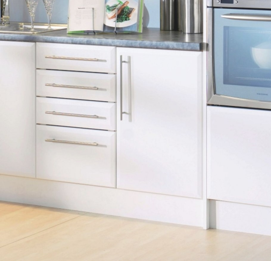 Details About Beveled Edge Satin Matt White Kitchen for White Kitchen Cabinet Doors