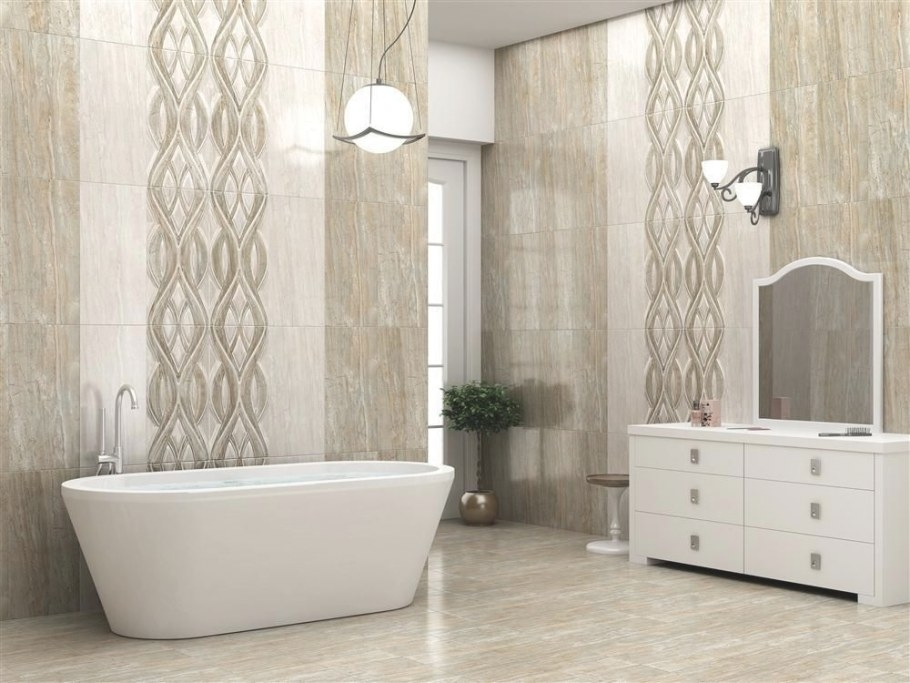 Diana Silk (Wall Tile), Size - 300X600 Mm, For More in What Size Tiles For Small Bathroom
