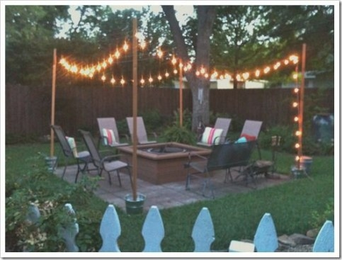 Diy Outdoor Patio String Lights Landscape Lighting Guru throughout How To Hang Outdoor String Lights