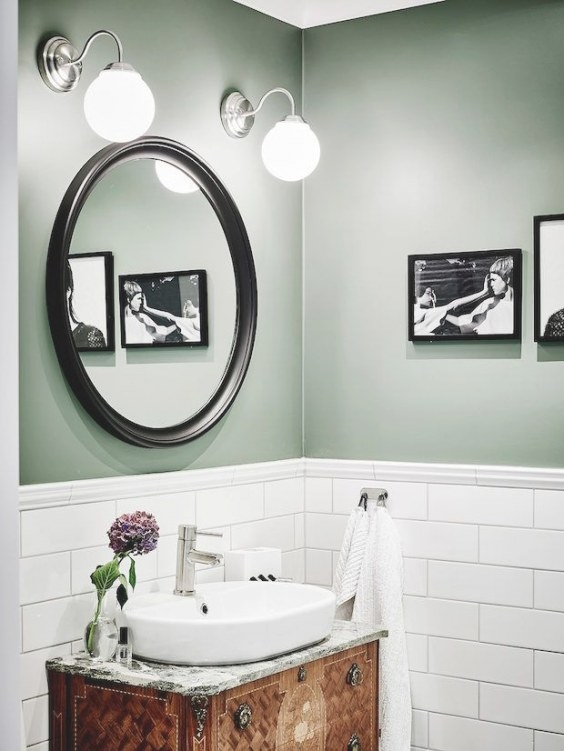 Does Sage Green Fit Perfectly Into Farmhouse Decor inside Green And Gray Bathroom