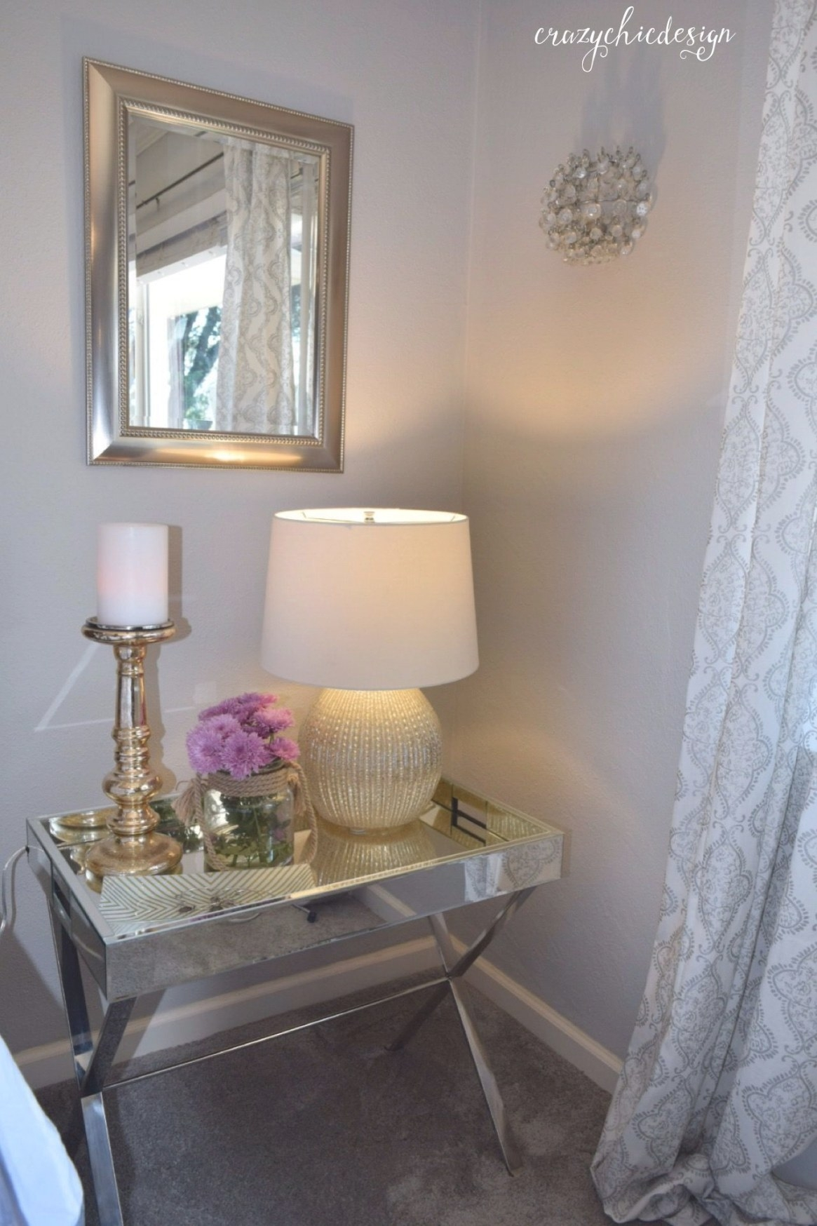 Don'T Be Afraid To Mix Mirrored, Silver And Gold Together in Silver And Gold Bedroom