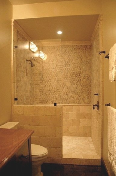 Doorless Shower Design Doorless Walk-In Shower Designs throughout Walk In Shower For Small Bathroom