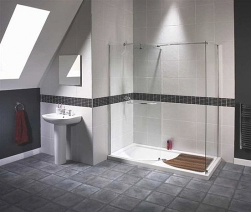 Doorless Shower Ideas throughout How Big Does A Walk In Shower Need To Be To Not Have A Door