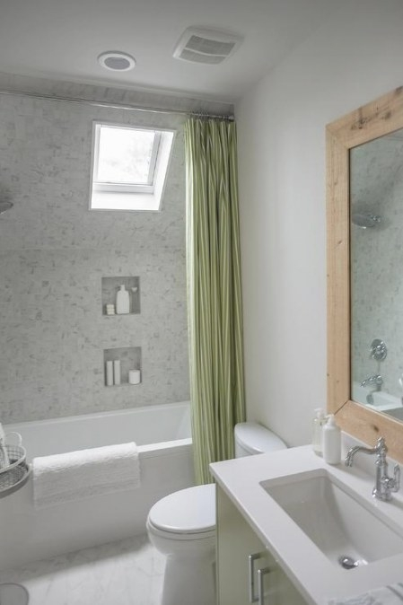 Dormer Shower And Tub Combo - Cottage - Bathroom - Sherwin throughout Picture Of A Bathroom