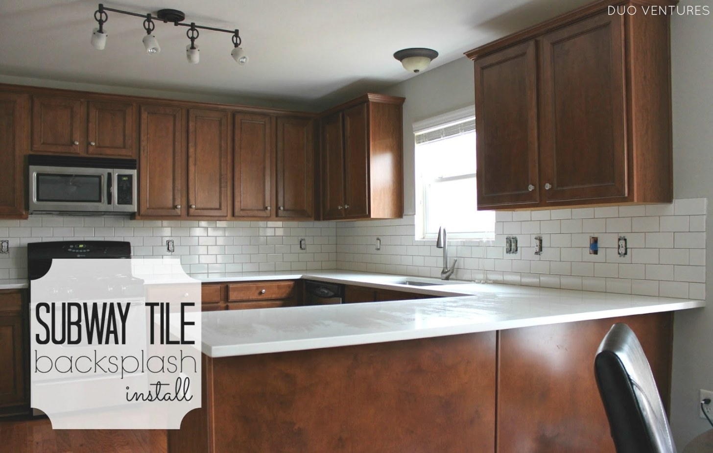 Duo Ventures: Kitchen Makeover: Subway Tile Backsplash with Do I Need Backsplash In Kitchen