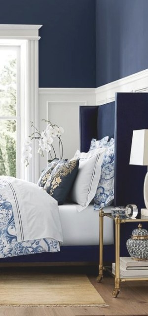 Duvet Covers | Blue Bedroom Decor, Blue Bedroom Walls pertaining to Navy Blue And Gold Bedroom
