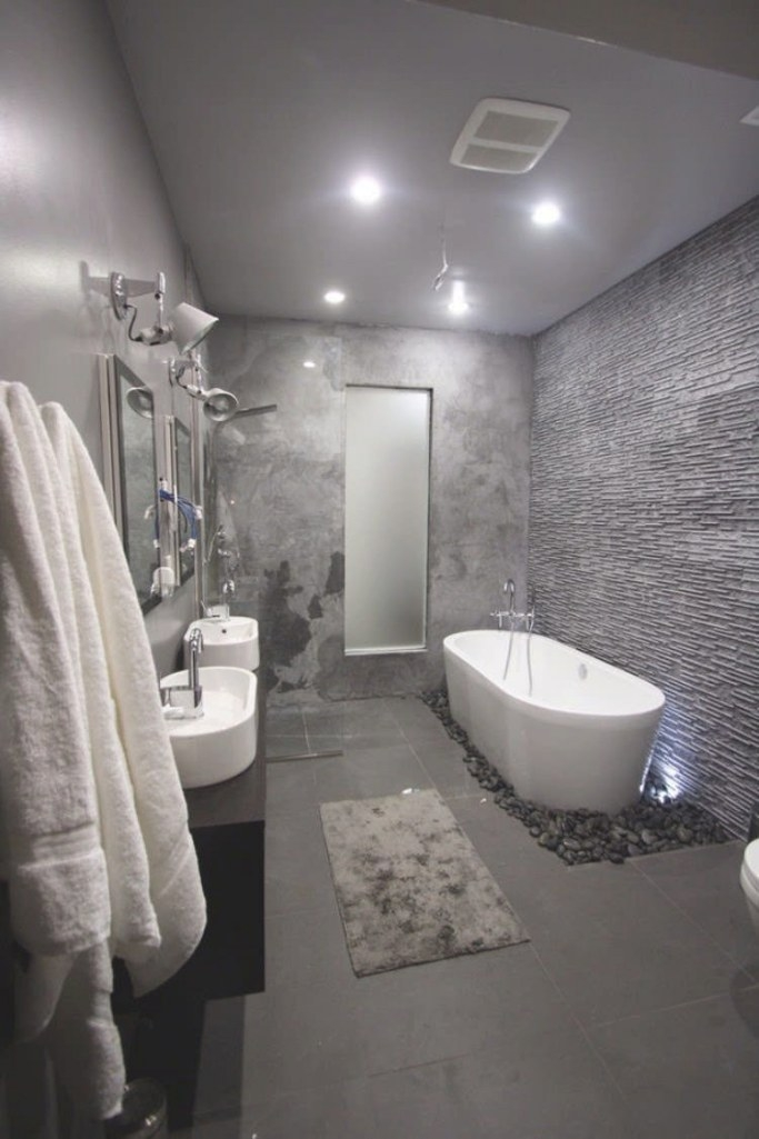 Elegant And Trendy Bathroom - Fifty Shadows Of Gray For pertaining to White And Grey Bathroom