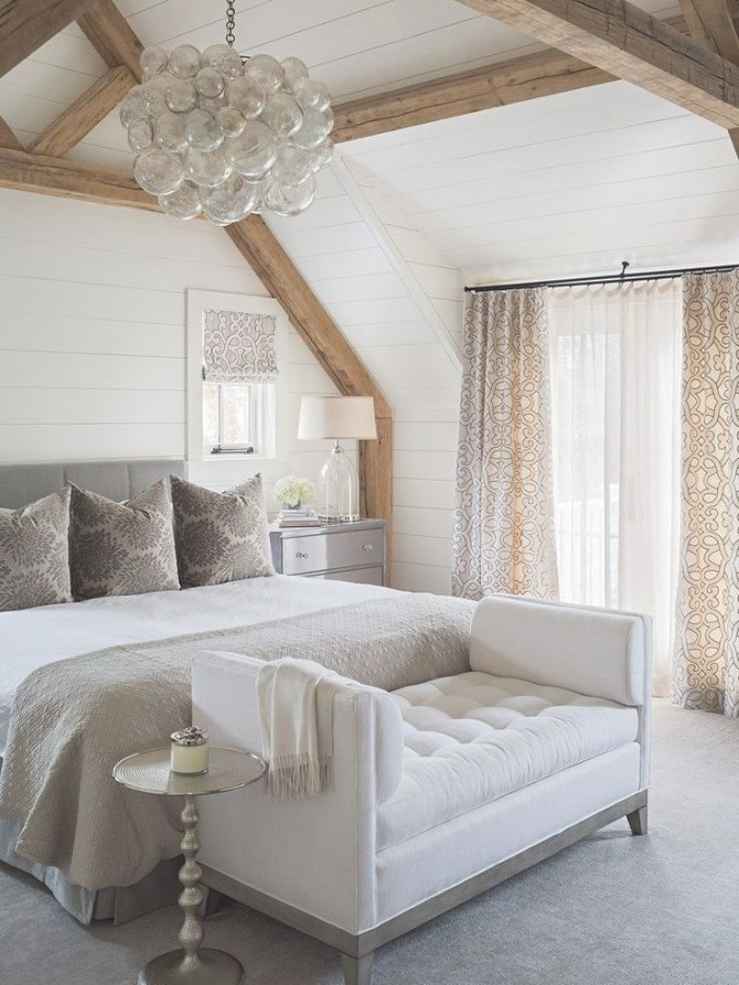 Elegant Master Bedroom With Floor To Ceiling Shiplap throughout White And Wood Bedroom