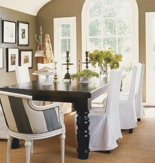 Elegant Slipcover For Dining Room Chairs – Stylish Look inside Dining Room Chair Covers