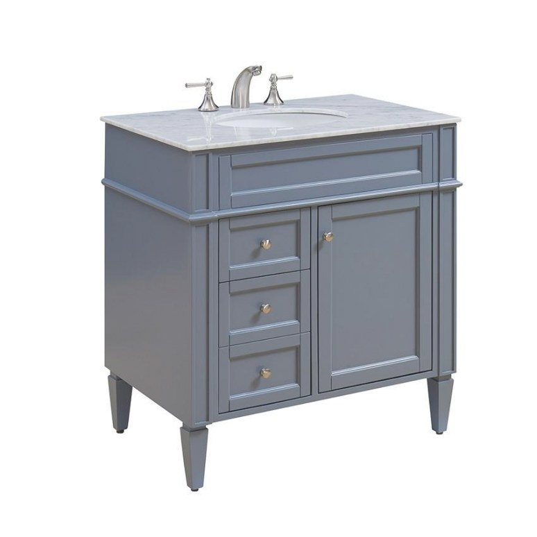 Elegent 32 Inch Bathroom Vanity Park Ave Color Matt Grey pertaining to 32 Inch Bathroom Vanity