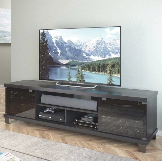 Extra Wide Tv Stand 80 Inch Black Flat Screen inside 80 Inch Tv Stand