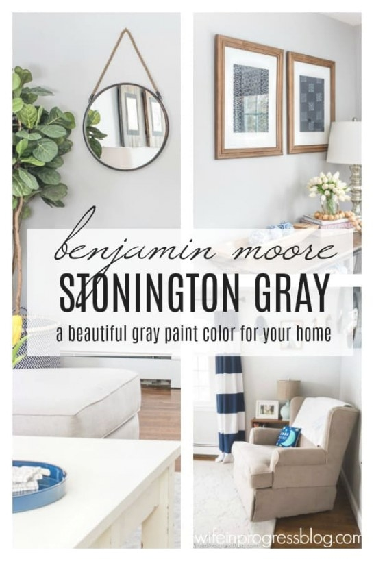 Favorite Paint Colors: Benjamin Moore Stonington Gray throughout Benjamin Moore Paper White