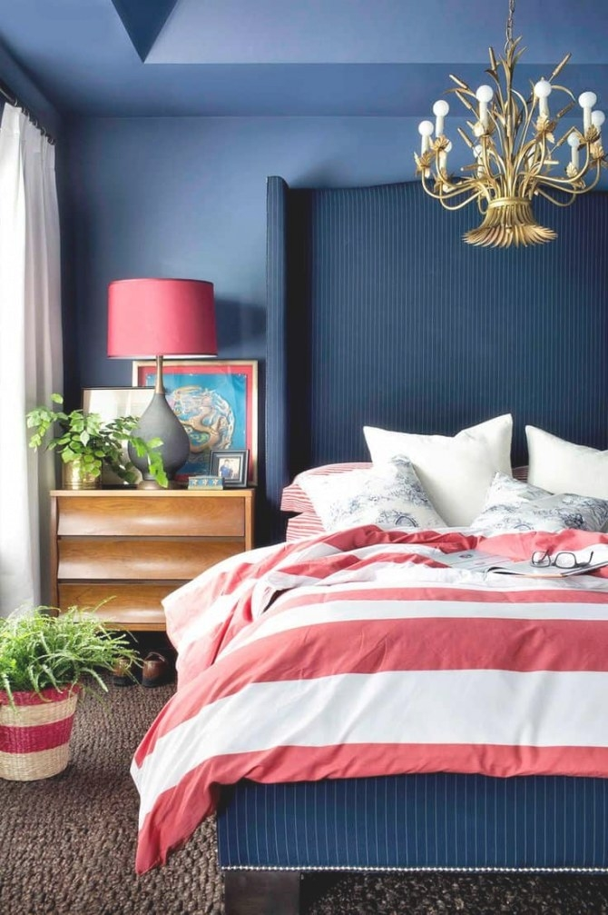 Few Of My Favorite Things--Navy Blue Bedrooms | Lz Cathcart in Navy Blue And Gold Bedroom