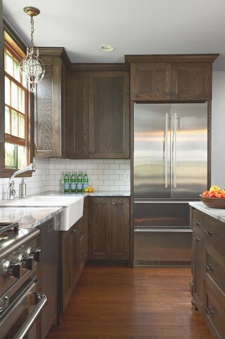 Fiddlehead Design Group - Kitchens - Dark Stained Cabinets intended for Dark Brown Kitchen Cabinets