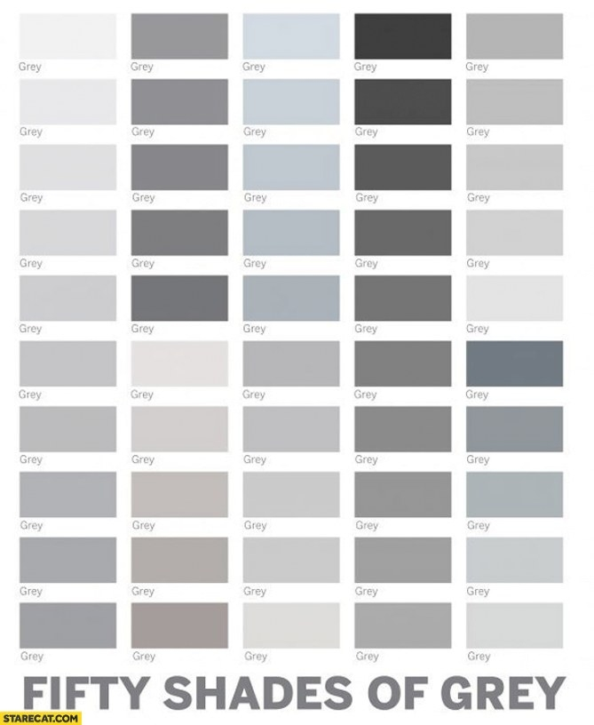 Fifty Shades Of Grey Colours | Starecat throughout Shades Of Grey Color