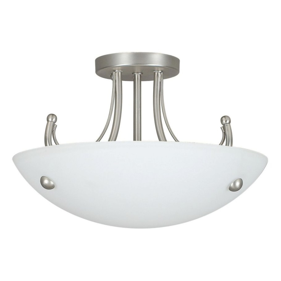 Fillament Design Atropolis 2 Light Ceiling Satin Nickel regarding Flush Mount Ceiling Lights