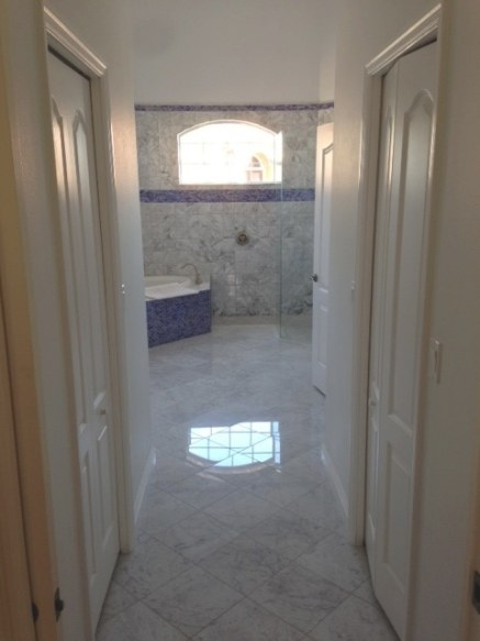Florida Bathroom With Carrara Marble 6×6 And Provocative 1 in What Is A Florida Bathroom