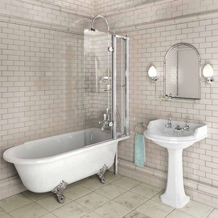 Free Standing Bath With Shower Screen. | Freestanding Bath inside Free Standing Tub Shower