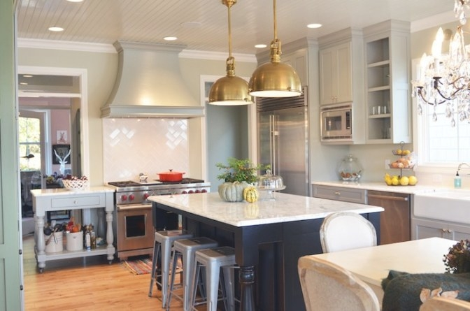 French Kitchen Design - French - Kitchen - Benjamin Moore with Benjamin Moore Sea Salt