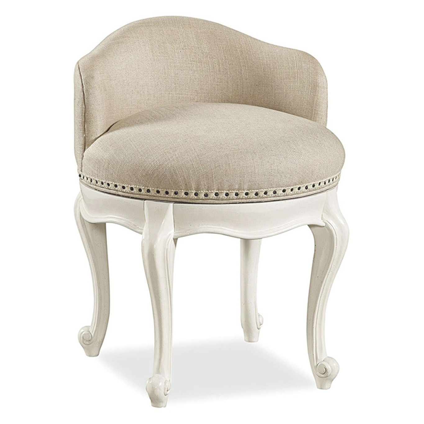 Furniture: Stylish Accent Upholstered Vanity Stool To intended for Vanity Seats For Bathrooms