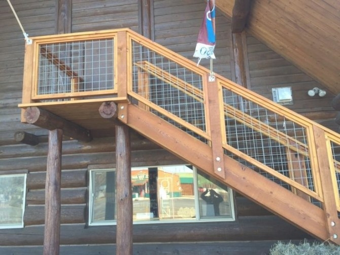 Gallery - Wild Hog Railing | Deck Railing Design, Deck intended for Hog Wire Deck Railing