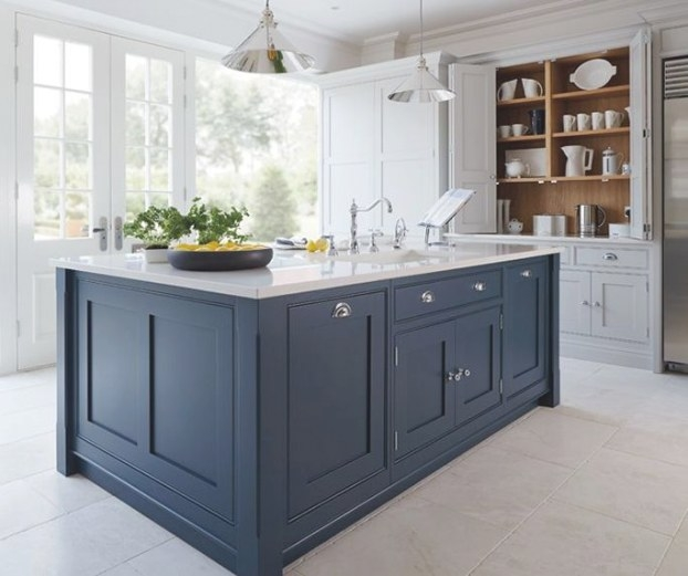 Get The Look: Blue And White Kitchens | Modern Kitchen for Blue And Grey Kitchen
