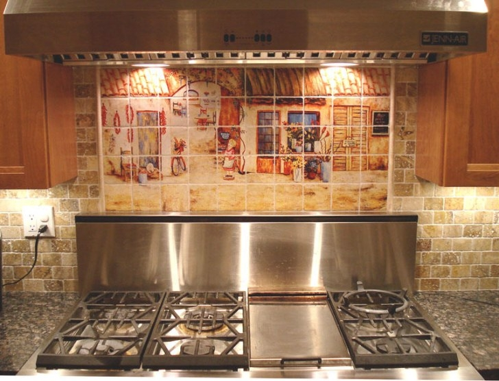 Get Your Kitchen Bathed With Awe With The Touch Of with Italian Tile Backsplash Kitchens